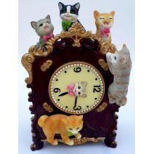 """Музыкальный сувенир """"Часы с котятами"""" (движение, музыка) 16*10*7,5 см."""