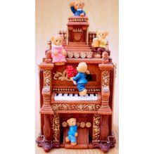 """Музыкальный сувенир """"Мишки на пианино """" (движение, музыка) 16*9,5*6,5 см."""