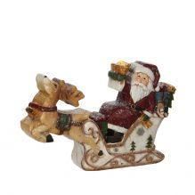 Украшение Санта в санях  19*4*13 см красного цвета