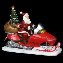 """Новогодняя композиция """"Санта в санях"""" 25*11.4*20 см  (музыкальный)"""