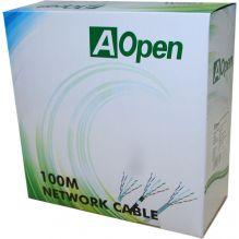Кабель Aopen UTP 4 пары кат.6 (бухта 100м)