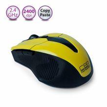 Мышь беспроводная CBR CM-547 Yellow, оптика